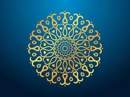 mandala decorativo di lusso floreale blu vettore