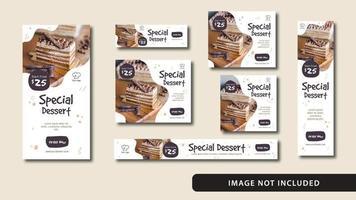 dessert social media e banner web