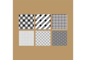 Semplici modelli in bianco e nero 6 vettore