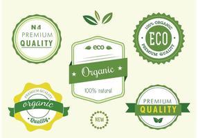 Set vettoriale gratuito di etichette naturali