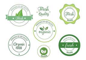 Set di etichette vettoriali Eco gratuiti