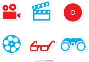 cinema icon vettori pack 1