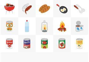 Set di icone vettoriali gratis cibo campo