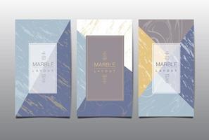 modello di layout in marmo