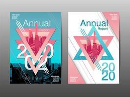 set di copertine per relazione annuale con design a stella