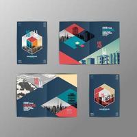 progettazione di brochure geometriche vettore