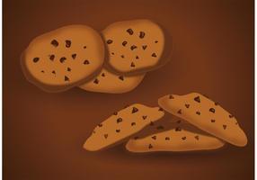 Vettori di biscotti con gocce di cioccolato