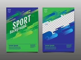 modello sportivo verde e blu vettore