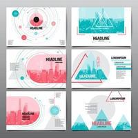 design del layout di presentazione impostato con forme geometriche vettore