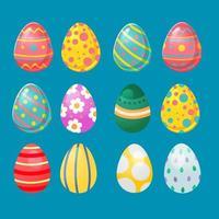 raccolta di uova di Pasqua in vari colori