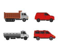 set di icone di camion e veicoli vettore