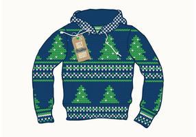 Vettore brutto del maglione di Natale
