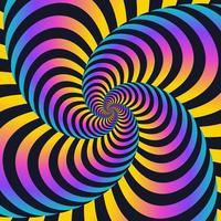 sfondo di linee di movimento colorato turbinii contorti vettore
