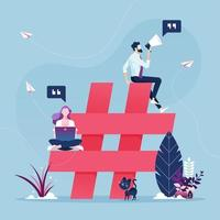 concetto di social media marketing vettore