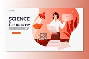 landing page scientifica e tecnologica