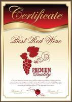 miglior certificato di raccolta del vino rosso vettore