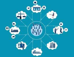diagramma dei consulenti e delle industrie connesse vettore