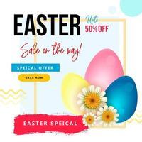 disegno di vendita di Pasqua con forme geometriche vettore