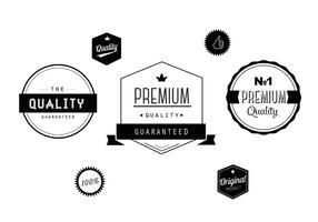 Set di etichette vettoriali gratis in bianco e nero