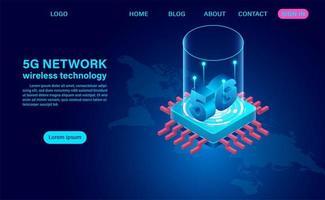 Concetto di tecnologia wireless di rete 5g