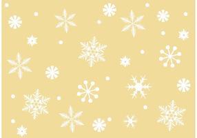 Sfondo di fiocchi di neve vettoriali gratis