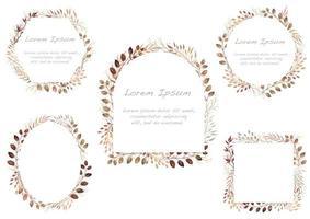 set di frame di elemento botanico rosso autunno.