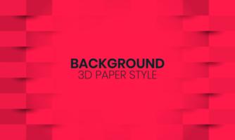 sfondo rosso con carta tagliata stile vettore