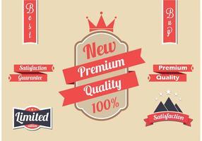 Set di etichette vettoriali rosso gratuito