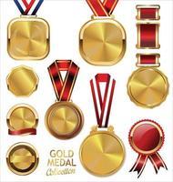collezione di nastri in metallo dorato vettore