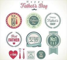 set distintivo per la festa del papà vettore