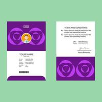 modello di carta d'identità di forma geometrica viola brillante