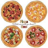gruppo di pizze diverse