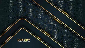 sfondo punto oro scuro con forme geometriche sovrapposte vettore