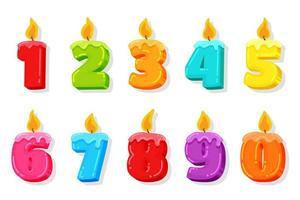 set candela di compleanno vettore