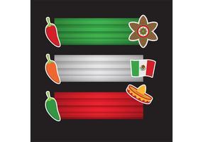 pacchetto di vettore banner cinco de mayo