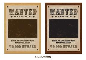 Poster di vettore Wanted vintage