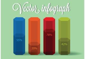 Vettore infografica colorato