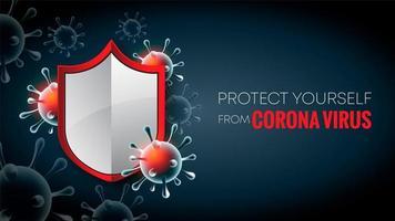 fermare lo sfondo del virus corona vettore