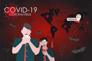 poster di infezione globale coronavirus