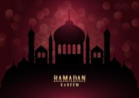 sfondo di Ramadan Kareem con elegante mandala vettore