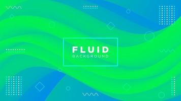 sfondo fluido moderno creativo nei colori verde blu