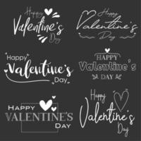 buon San Valentino set bordo nero