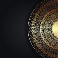 sfondo decorativo con mandala d'oro
