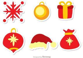 pacchetto di decorazione natalizia 3 vettore