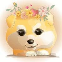 simpatico cucciolo disegnato a mano
