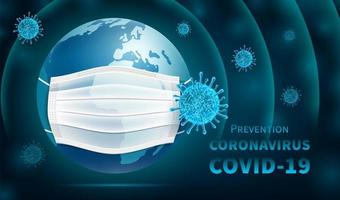 protezione del coronavirus terrestre vettore