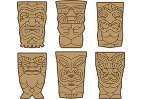 Vettori di totem Tiki