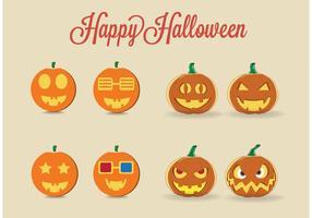 Zucche di Halloween vettoriali gratis