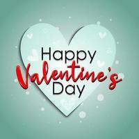 '' buon San Valentino '' con cuore di carta