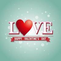"""testo """"amore"""" sopra il banner """"buon San Valentino"""" vettore"""